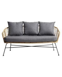 Amanda 2-istuttava sohva, polyrottinki
