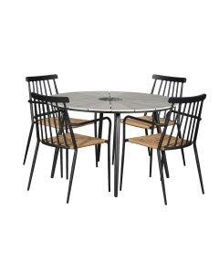 Alberta pöytä + 4 Alvin tuolia