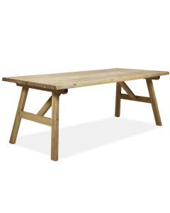 Lankkupöytä ruskeana ulos