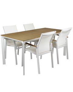 Parma pöytä + 4 Luna tuolia