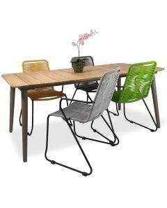 Reims pöytä + 4 Ibiza tuolia, eri värejä