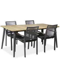 Reims pöytä + 4 Malin tuolia