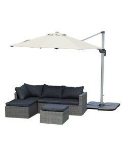 Roman riippuva aurinkovarjo 3m, valkoinen