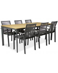 West pöytä + 6 Malin tuolia