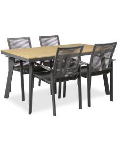 Woodie pöytä + 4 Malin tuolia