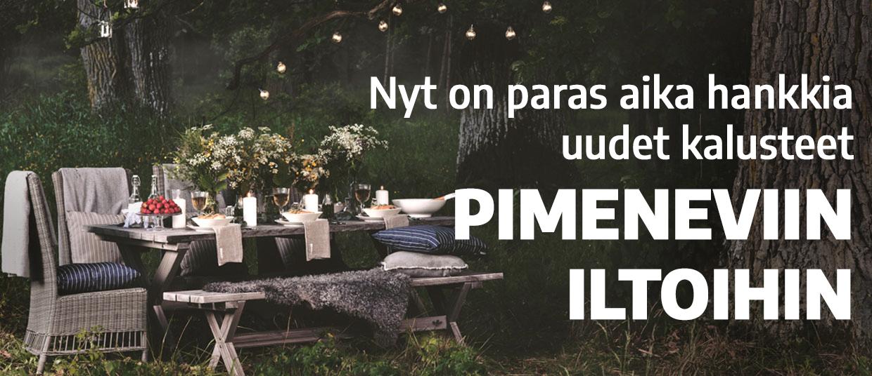 Puutarhakalusteet pimeneviin iltoihin terasseille ja parvekkeille